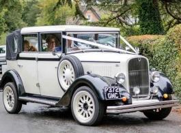 Vintage style Regent wedding car in Brighton